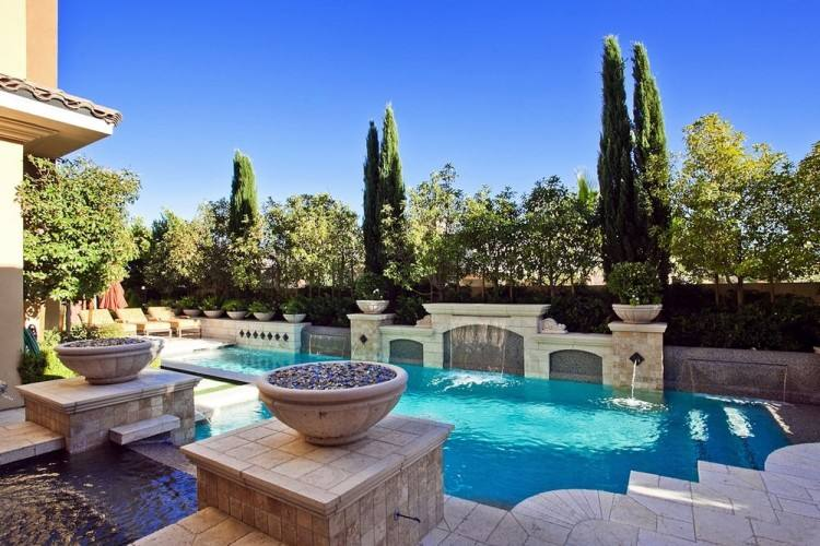 view in gallery awesome pool and bridge design that is simply stunning from  home designs luxury