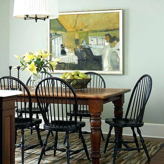Harlequin Set Of 7 Antique Spindle Back Dining Chairs C