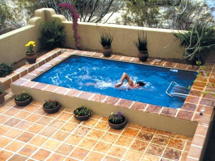 The pool is by no means small – 20 feet by 48 feet – and includes  a
