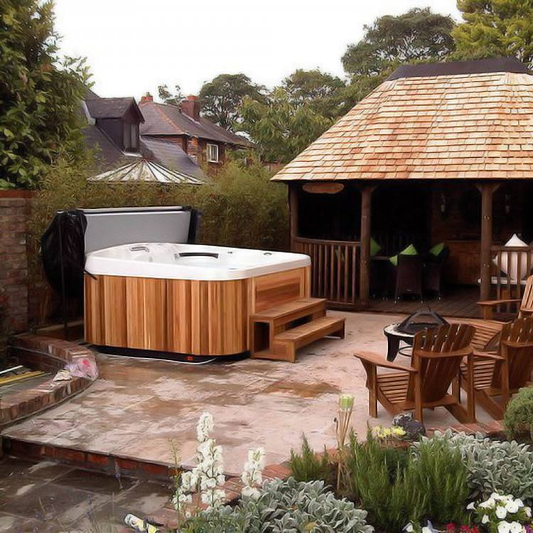 Hot Tub Patio Ideas An Amazing By The River Should Definitely Privacy  Foundation