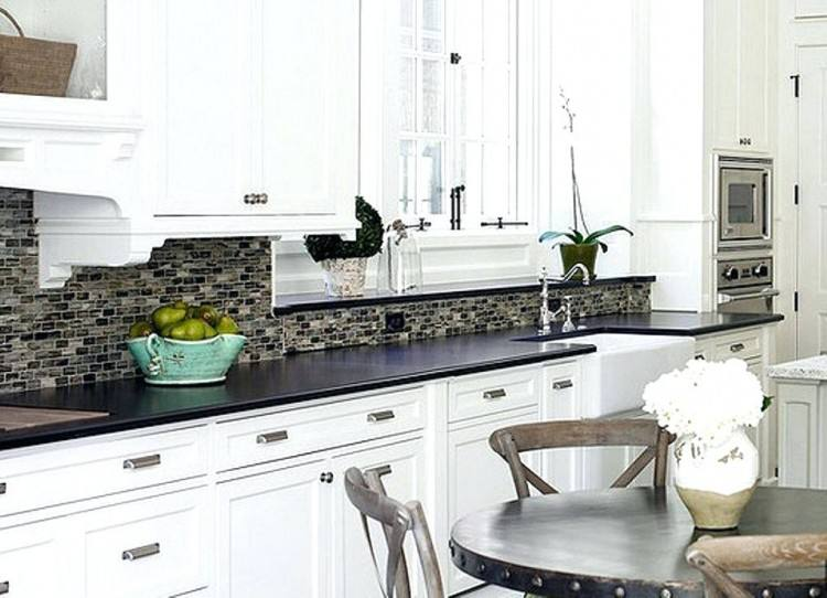 Kitchen Designs And Decoration Thumbnail size White Kitchen Backsplash  Design Dark Floors Cabinets Designs checkered tile