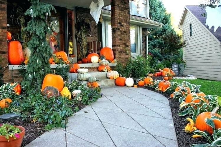 outdoor fall decor brighten your traditional outdoor fall decor by simply  wrapping pumpkins in string lights