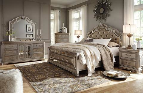 Dresser, Mirror, King Bed Set