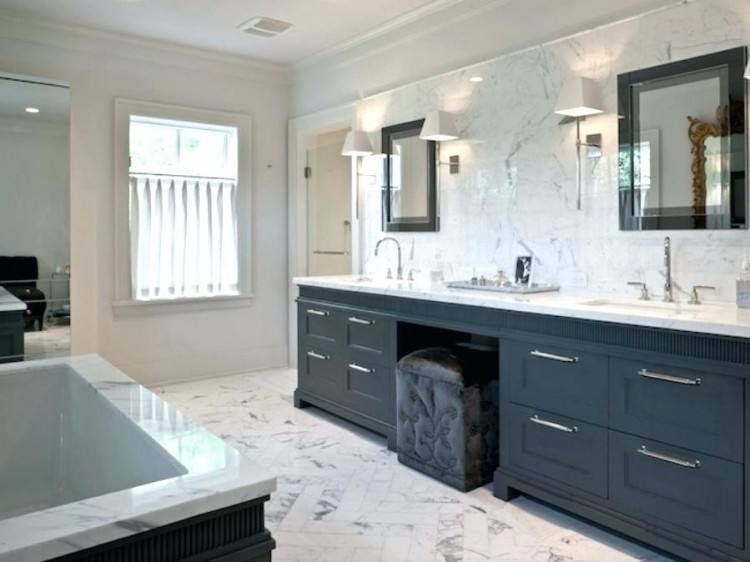 Bathroom Design Classic Bathroom with dark cabinets