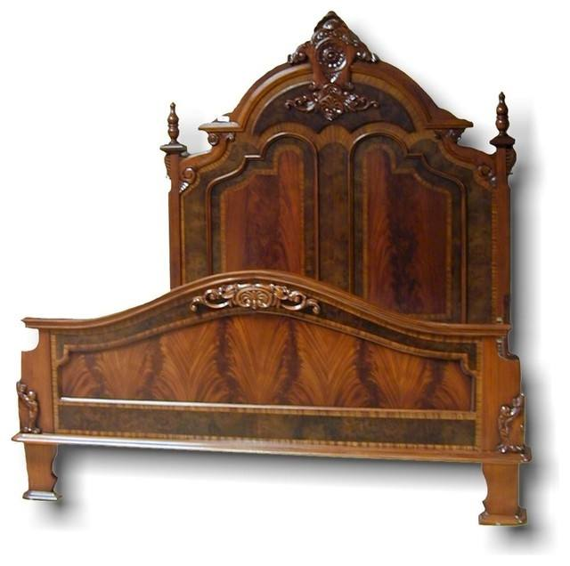 2019 Factory Price Bed Fashion European French Carved Bed Furniture 1