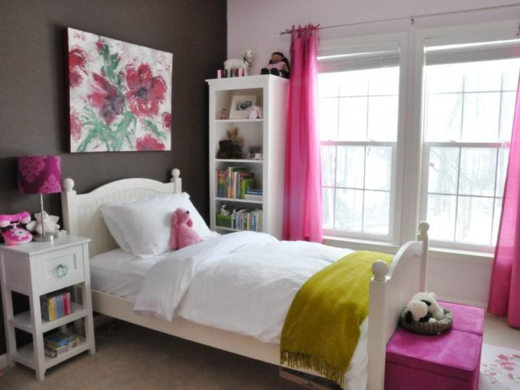 Heart Themed Girls Bedroom Decorating Ideas : Charming Heart Red Polka Dot  Themed Girls Bedroom Design