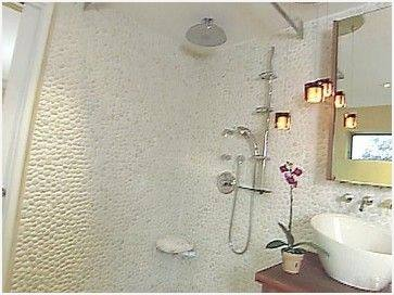 pebbles tiles in bathrooms