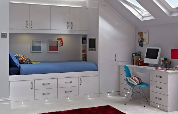 Medium Size of Amusing Fitted Study Furniture Built Wall Units  Inspiring Bedroom Storage Bed Custom Home