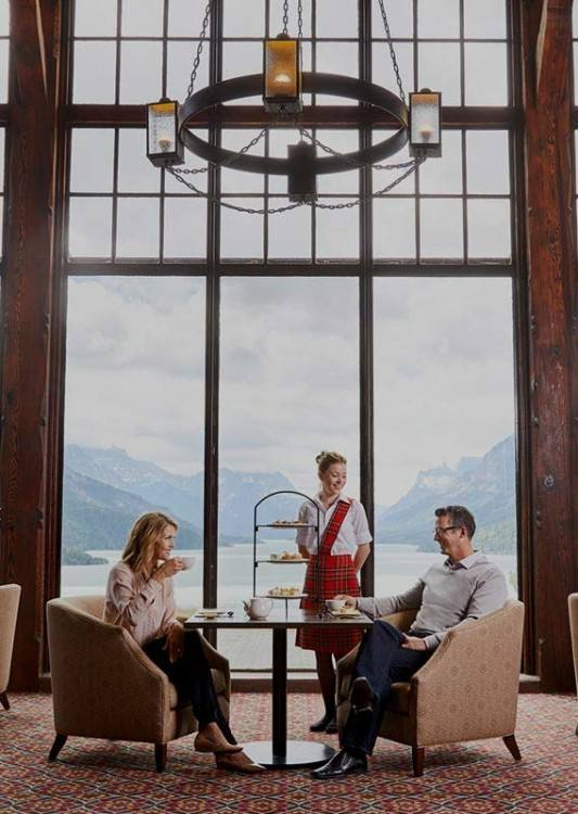 This stately hotel is located  high on a