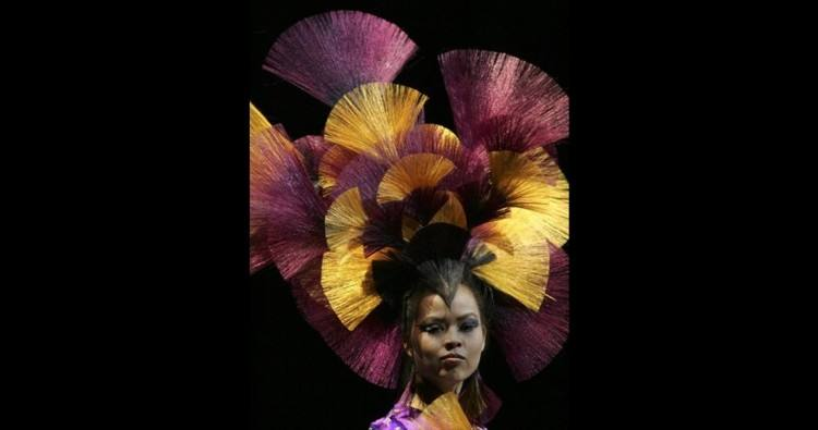 , Thursday,  April 23, 2009, during the International Fantasy Hair Competition called '
