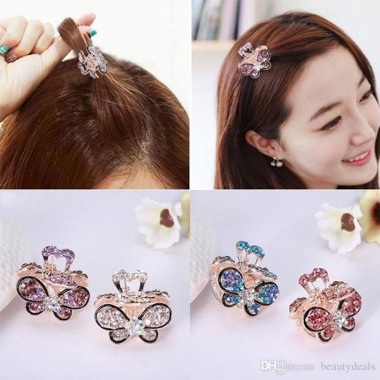 5cm Women Octopus Claw Hair Clip Hairpin Accessory Heart  Shape Handle