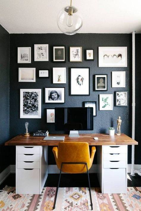 When you are working from your home, there are two things that you should  bare in mind, the first is to keep the decor homy and warm enough so you  can feel