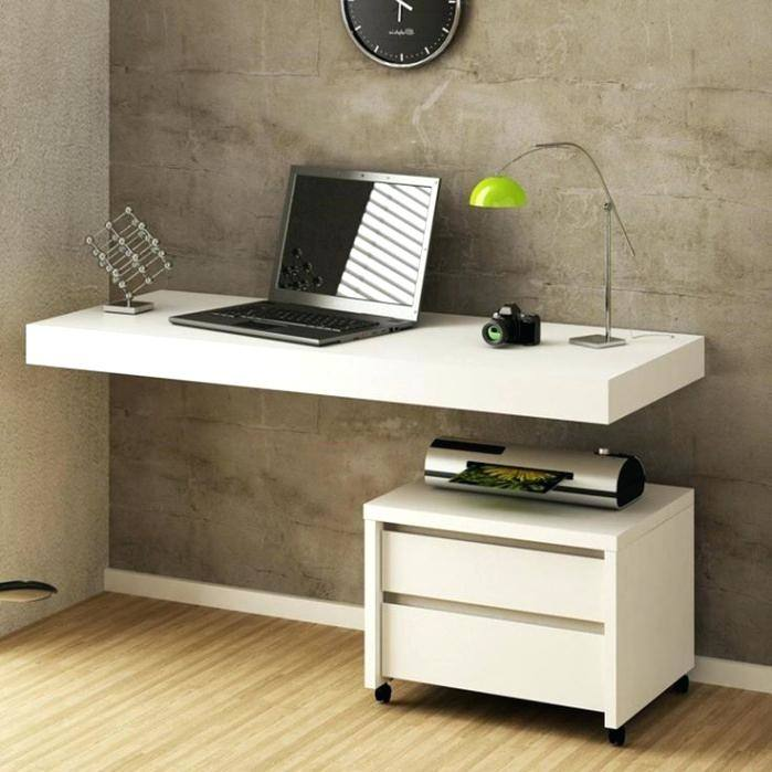 minimalist home office cool setups inspirations white design with floating  desk ideas