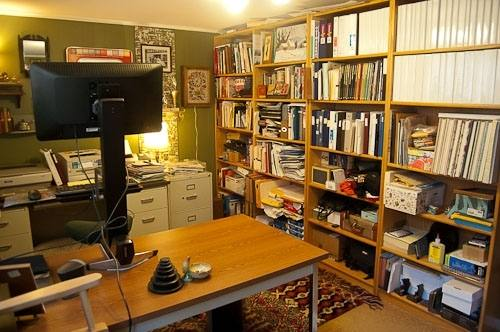 Work at home in the comfort of your own basement office Basement  finishing ideas