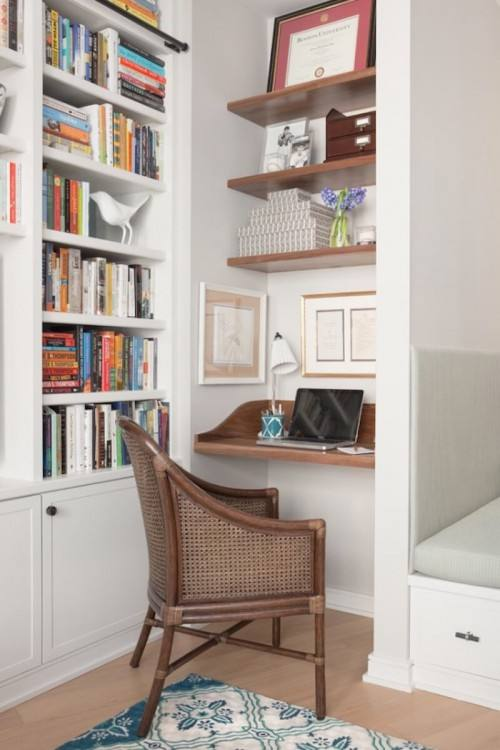 Creating an efficient, workable space in your home office isnt difficult!  Simply assemble all of your essentials for staying organized and pair with  a chic