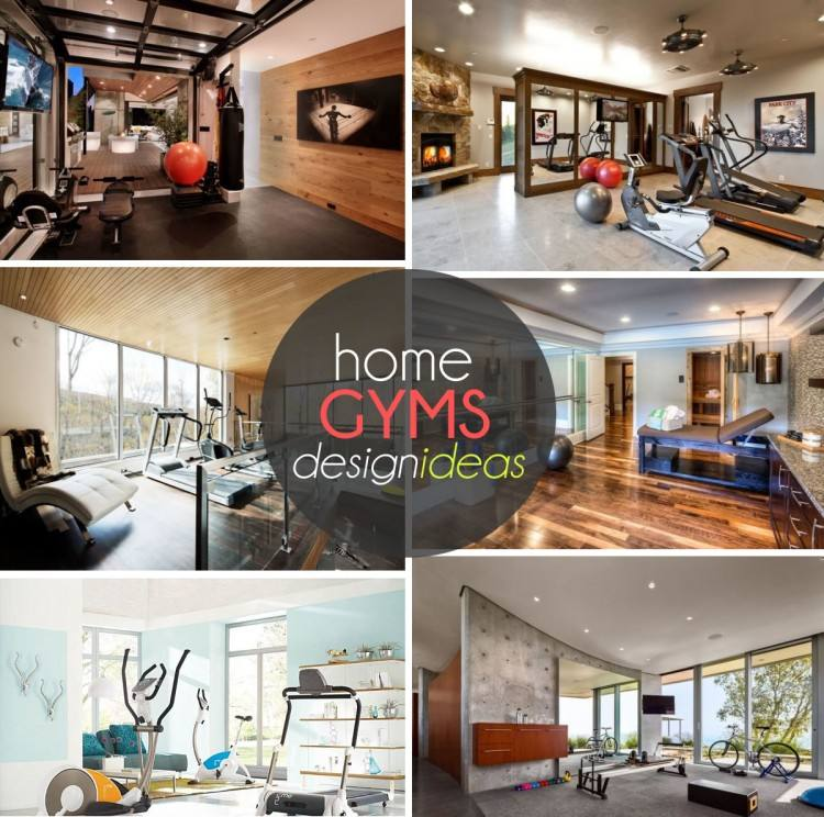 home gym and office ideas