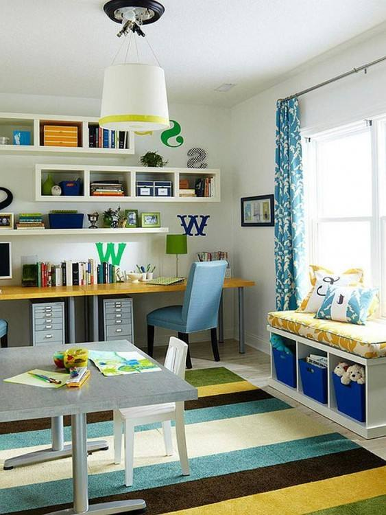 Colorful craft room and playroom idea [Design: Parkwood Homes]